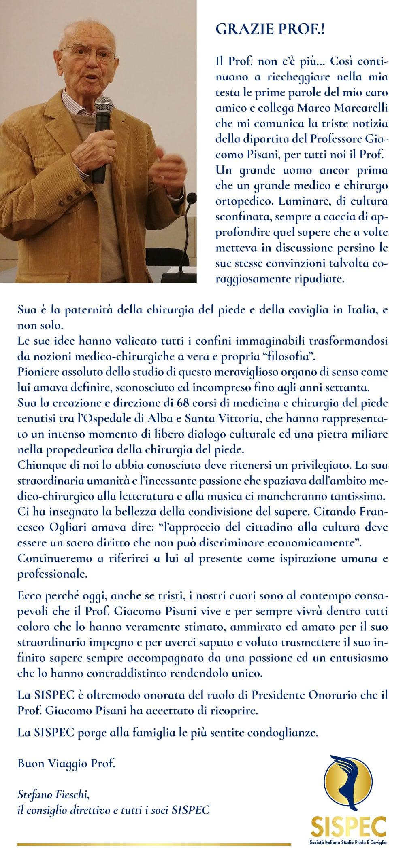 Lettera al Prof. Fieschi